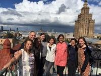 Pēc projekta atklāšanas dievkalpojuma Rīgas Jēzus baznīcas tornī