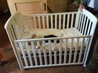 Viena no 48 skaistām Latvijas bērza bērnu gultiņām