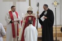 LU Teoloģijas fakultātes dekānes Daces Balodes ordinācija mācītājas amatā. Bilde: Ralfs Kokins.